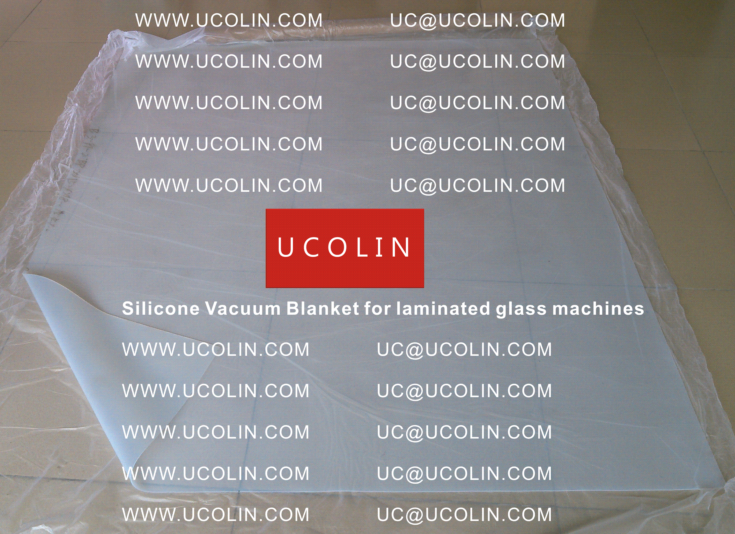 001 Silicone vacuum blanket for laminated glass machines