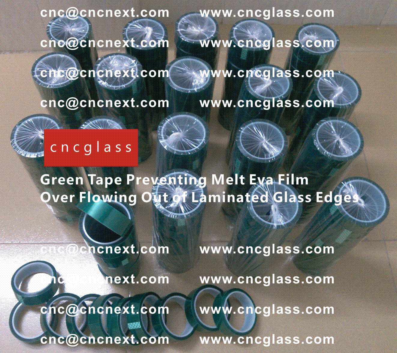 006 Green Tape Preventing Melt Eva Film Over Flowing Out of Laminated Glass Edges