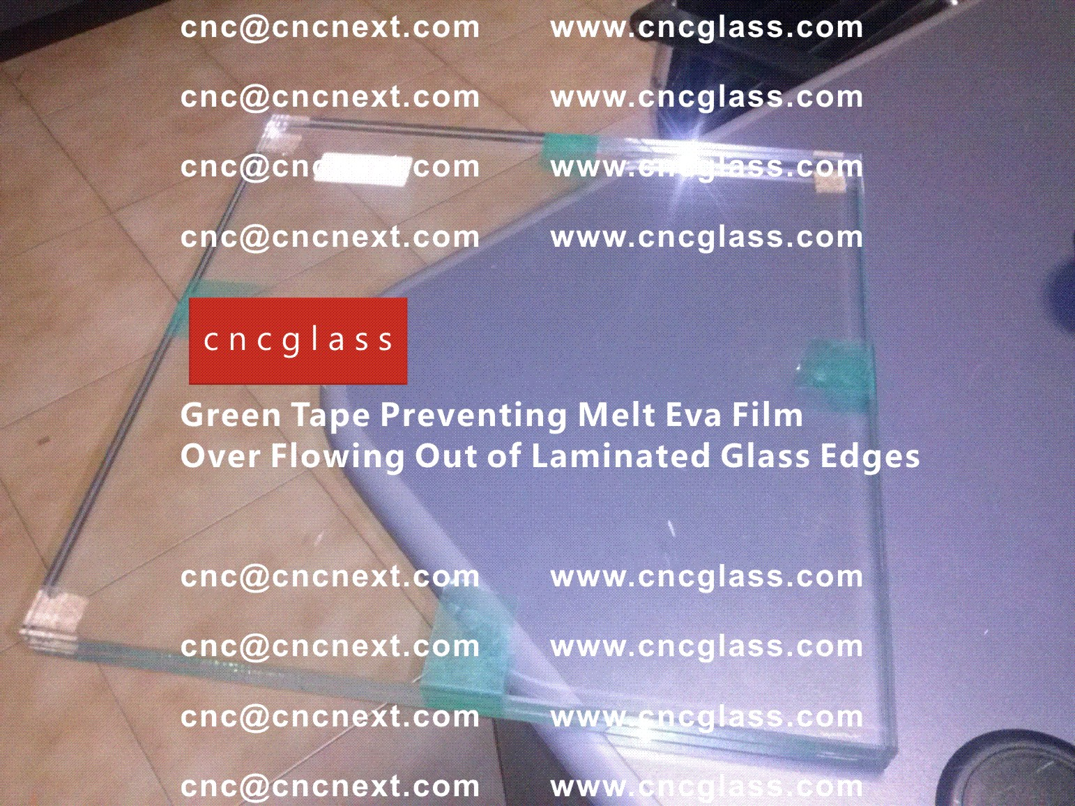 008 Green Tape Preventing Melt Eva Film Over Flowing Out of Laminated Glass Edges