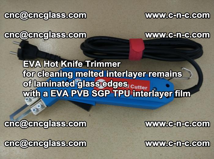 EVA HOT KNIFE TRIMMER cleaning PVB SGP EVA interlayer film overflowed remains outof laminated glass edges (29)