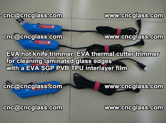 EVA thermal cutter trimmer for cleaning laminated glass edges with a EVA SGP PVB TPU interlayer film (13)
