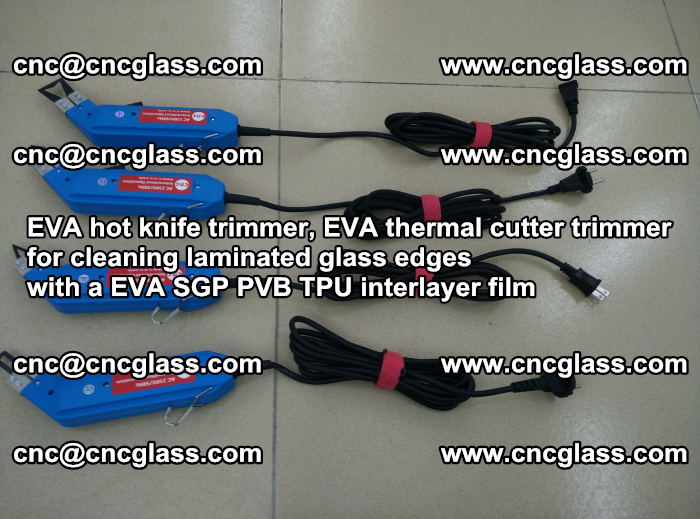 EVA thermal cutter trimmer for cleaning laminated glass edges with a EVA SGP PVB TPU interlayer film (14)