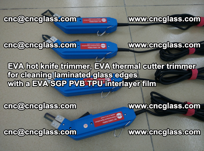 EVA thermal cutter trimmer for cleaning laminated glass edges with a EVA SGP PVB TPU interlayer film (19)