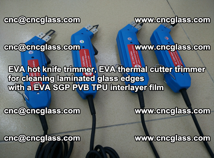 EVA thermal cutter trimmer for cleaning laminated glass edges with a EVA SGP PVB TPU interlayer film (2)