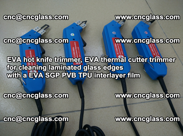 EVA thermal cutter trimmer for cleaning laminated glass edges with a EVA SGP PVB TPU interlayer film (3)