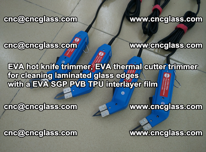 EVA thermal cutter trimmer for cleaning laminated glass edges with a EVA SGP PVB TPU interlayer film (37)