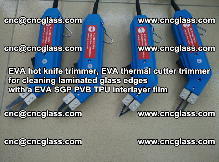EVA thermal cutter trimmer for cleaning laminated glass edges with a EVA SGP PVB TPU interlayer film (49)