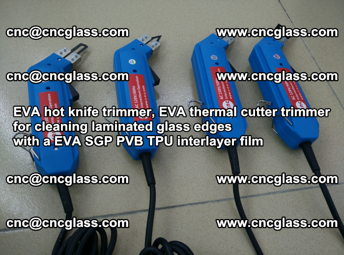 EVA thermal cutter trimmer for cleaning laminated glass edges with a EVA SGP PVB TPU interlayer film (5)