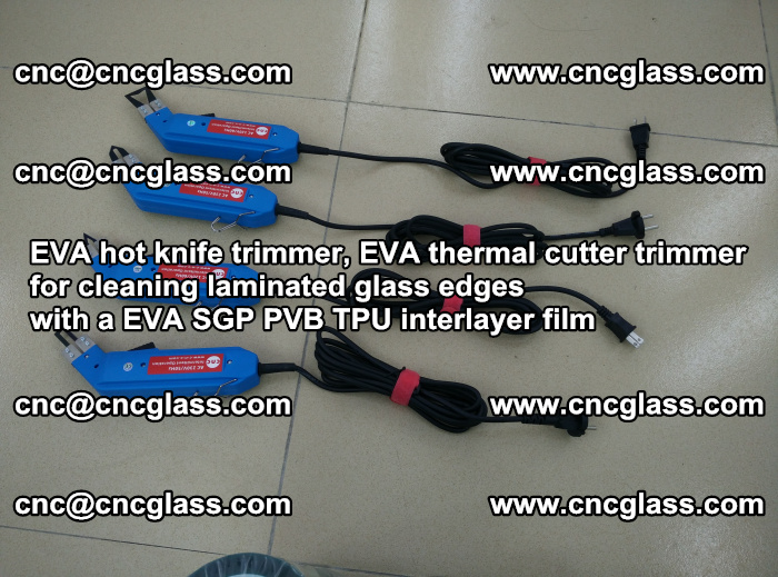 EVA thermal cutter trimmer for cleaning laminated glass edges with a EVA SGP PVB TPU interlayer film (8)
