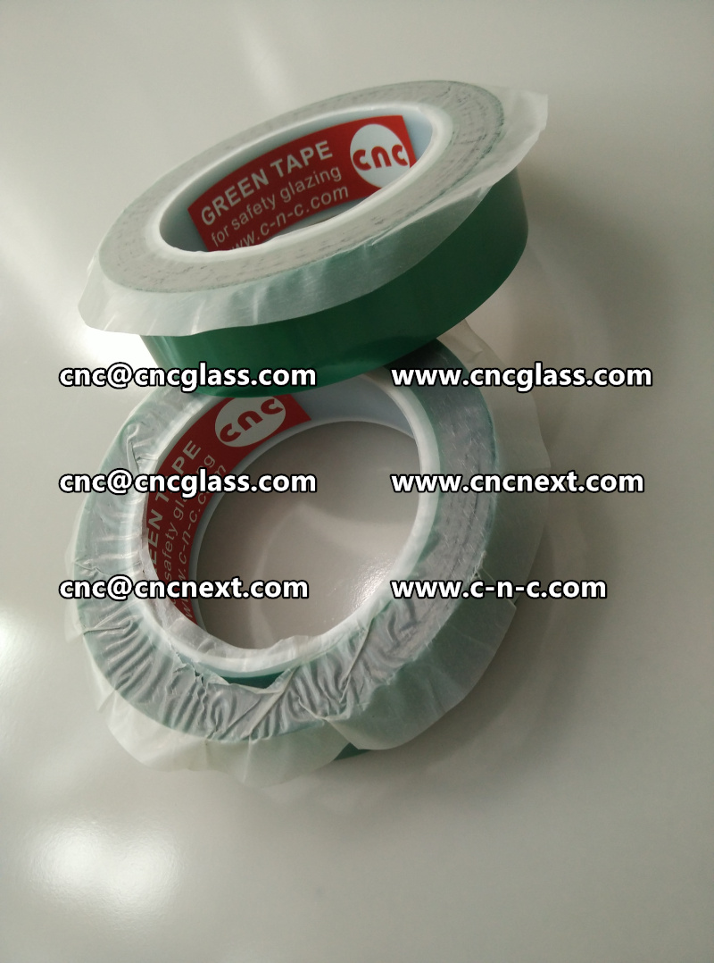 SAFETY GLAZING GREEN TAPE PET GREEN TAPE (1)